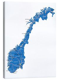 Toile  Map Norway