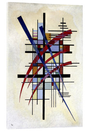 Verre acrylique  Sign with accompaniment - Wassily Kandinsky