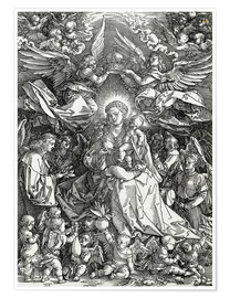 Poster The Virgin and Child surrounded by angels