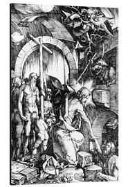 Tableau en aluminium  The Harrowing of Hell or Christ in Limbo, from The Large Passion - Albrecht Dürer
