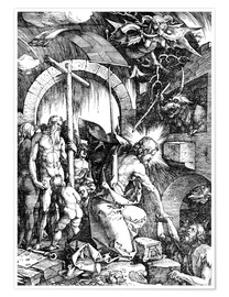 Poster The Harrowing of Hell or Christ in Limbo, from The Large Passion