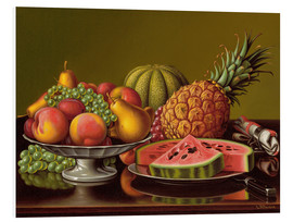 Tableau en PVC  Still Life with Fruit - Levi Wells Prentice