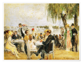 Poster  Garden Cafe on the Elbe - Max Liebermann