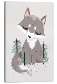 Toile  Animal Friends - The Wolf - Kanzi Lue