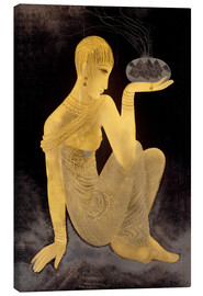 Tableau sur toile  Perfume girl with a censer - Jean Dunand