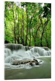 Tableau en verre acrylique  Waterfall in forest of Thailand