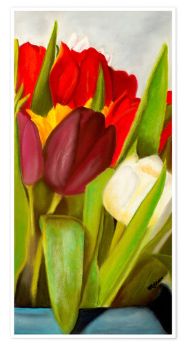 Poster Cheerful spring colors