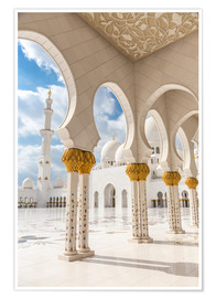 Poster View of Sheikh Zayed Grand Mosque