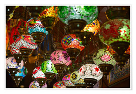 Poster  Traditional turkish lamps