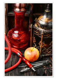 Poster  Hookah tobacco with apple