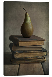 Tableau sur toile  Still life with books and pear - Jaroslaw Blaminsky