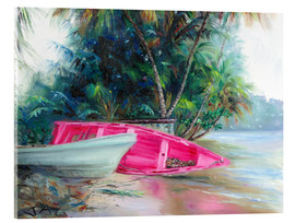 Verre acrylique  pink boat on side - Jonathan Guy-Gladding
