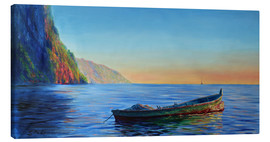 Tableau sur toile  base of petit piton with gommier boat - Jonathan Guy-Gladding