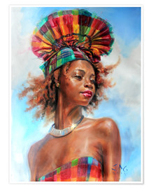 Poster  wenia with fanhat 1 - Jonathan Guy-Gladding