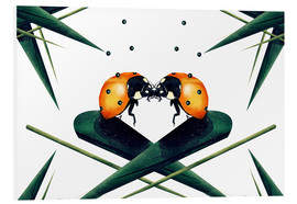 Tableau en PVC  Bugs in Love - Romina Lutz