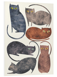 Tableau en PVC  Chats - Tracie Andrews