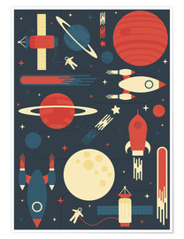 Poster  Space Odyssey - Tracie Andrews