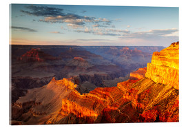 Tableau en verre acrylique  Sunset on Grand Canyon South Rim, USA - Matteo Colombo