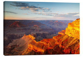 Tableau sur toile  Sunset on Grand Canyon South Rim, USA - Matteo Colombo