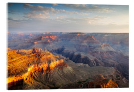 Tableau en verre acrylique  Sunrise of Grand Canyon South Rim, USA - Matteo Colombo