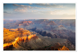 Poster  Sunrise of Grand Canyon South Rim, USA - Matteo Colombo