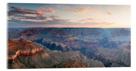 Tableau en verre acrylique  Panoramic sunrise of Grand Canyon, Arizona, USA - Matteo Colombo