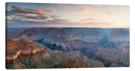 Tableau sur toile  Panoramic sunrise of Grand Canyon, Arizona, USA - Matteo Colombo