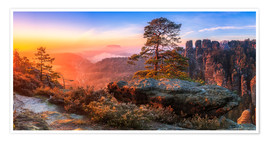 Poster  View of the Saxon Switzerland III - Moqui, Daniela Beyer