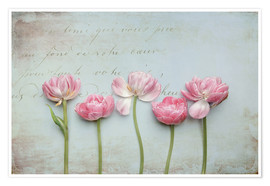 Poster  Vintage Tulips - Lizzy Pe