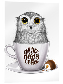 Verre acrylique  Owl you need is coffee - Nikita Korenkov