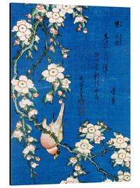 Alu-Dibond  Bullfinch and weeping cherry - Katsushika Hokusai
