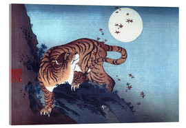 Verre acrylique  The Tiger and the Moon - Katsushika Hokusai