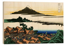 Tableau en bois  Dawn at Isawa in Kai Province - Katsushika Hokusai