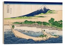 Tableau en bois  shore of tago bay ejiri at tokaido - Katsushika Hokusai