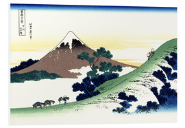 Tableau en PVC  inume pass in the kai province - Katsushika Hokusai