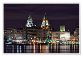 Poster Liverpool at Night