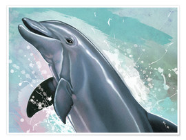 Poster  Bottlenose Dolphin  - Ashley Verkamp