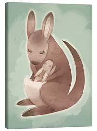 Toile  Mamma and baby kangaroo - Ashley Verkamp