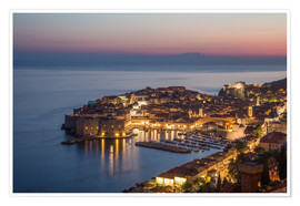 Poster  Dubrovnik at Sunset - Mike Clegg Photography