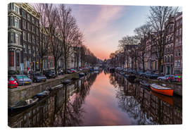Tableau sur toile  Amsterdam Canals at Sunrise - Mike Clegg Photography