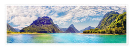 Poster  Milford Sound Panorama New Zealand - Michael Rucker