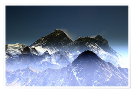 Poster  Everest summit - Gerhard Albicker