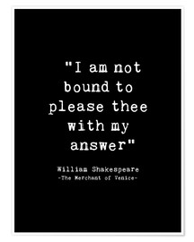 Poster Shakespeare Quote