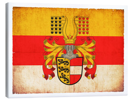 Tableau sur toile  Flag of Carinthia in grunge style - Christian Müringer