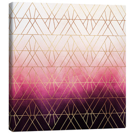 Toile  Triangles roses et ombres - Elisabeth Fredriksson