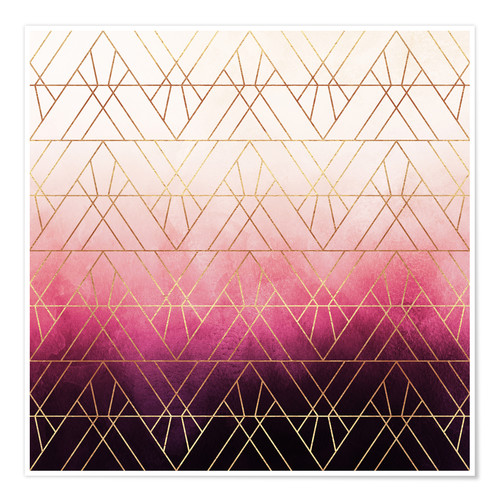 Poster Triangles roses et ombres