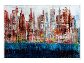 Poster New York Skyline, abstract
