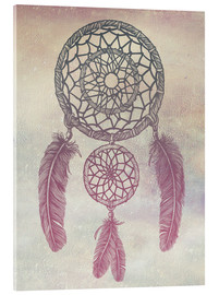 Tableau en verre acrylique  Dream Catcher Rose - Rachel Caldwell