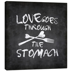 Toile  Love goes through the stomach - Andrea Haase