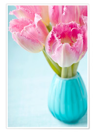 Poster Pink tulips